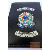 Porta Documentos Segurança Profissional Brasão Agente P123p