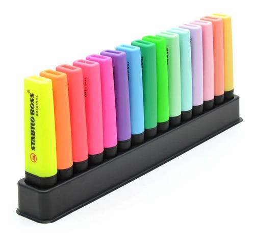 Marca Texto Stabilo Boss Com 15 Cores Neon E Pastel Original