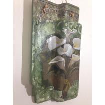 Telha Decorativa De Parede - Floral Decoupage