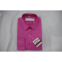 Camisa Social Masculina Sergio K , Cor Fúcsia