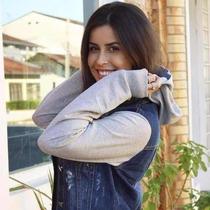 Jaqueta Jeans Com Moletom Feminina !