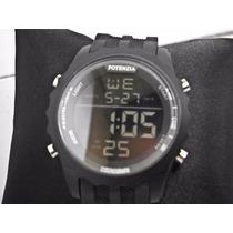 Relógio Potenzia Original A Prova Dágua 30 Mts Barato D+