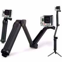 Gopro Hero 4 Black Selfi Bastao 3 Formas Tripe 3 Way Go Pro