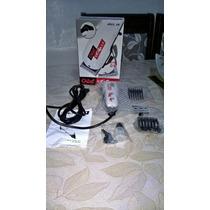 Máquina De Cortar Cabelo Profissional Mega Pro At77xp + Kit