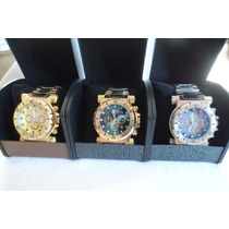 Relógio Série Ouro Masculino Luxo Ostentação