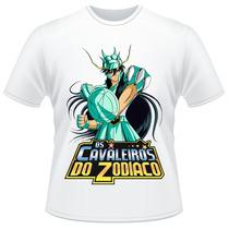 Camiseta Os Cavaleiros Do Zodíaco Shiryu De Dragão Camisa