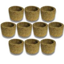 10 Vasos Para Orquídea Xaxim De Palmeira T3 Ecológico