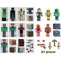 Minecraft Pacote Com Vários Itens Bonecos Minecraft