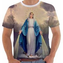 Camisa Camiseta Baby Look Nossa Senhora Das Graças Maria