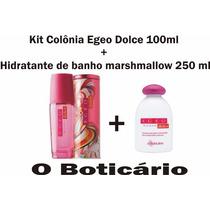 Colônia Egeo Dolce Woman + Hidratante De Banho Marshmallow