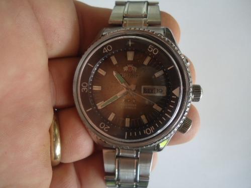 d4785fb86d2 Relógio Orient Kd Automático Antigo Verde Musgo Degrade