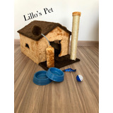 Arranhador Gato Casa  Kit Gato