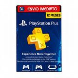 Cartão Psn Plus Brasileiro 12 Meses Br Brasil Playstation