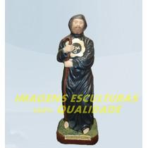 Escultura São Francisco De Paula Linda Imagem 20cm Promoção