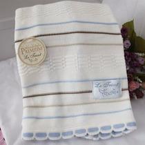 Manta Cobertor Infantil Enxoval Bebê Recém Nascido Tricot