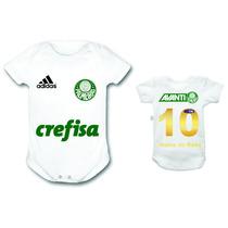 Bori Body Personalizados Palmeiras Time Futebol Infantil