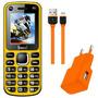 Celular Free Cross Amarelo Dual Chip, Bluetooth, Mp3 E Rádio