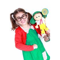 Fantasia Chiquinha + Óculos Infantil