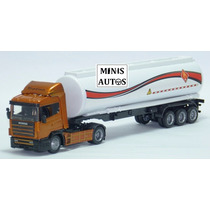Miniatura Carreta Tanque Scania 124l 400 New Ray Escala 1/43