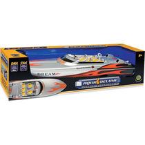 Brinquedo Lancha Com Controle Remoto Aqua Deluxe Dtc 3019
