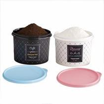 Tupperware Kit Bistrô Caixa Para Café + Caixa Para Acúcar