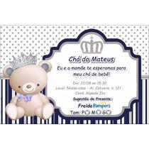 40 Convites Personalizados Chá De Bebê Ou Fraldas