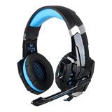 Fone De Ouvido Gamer Kotion Each G9000 Black E Blue