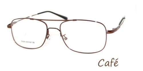 1abd1e25c Armação Em Titânio Memory P/ Óculos De Grau Modelo Aviador R$65 ...
