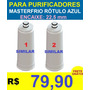 2 Filtro Refil Vela Purificador Masterfrio Rótulo Azul 22,5m
