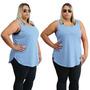 Plus Size Blusinha Camiseta Cavada Regata Blusa Promoção Top Original