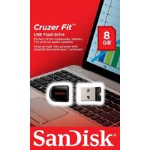 Pen Drive 8gb Sandisk Ultra Mini Micro Cruzer Fit Nano F