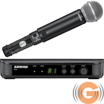 Microfone Shure Sem Fio Blx24br / Sm58 Loja Credenciada