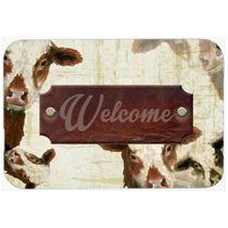 Bem-vindo Vaca Cozinha Ou Banho Mat 24x36 Sb3065jcmt