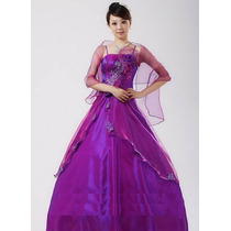 Lindo Vestido De Festa Debutante 15 Anos Roxo Pronta Entrega