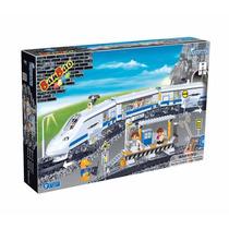 Bloco De Montar - Trem De Controle Remoto 662 Peças - Banbao