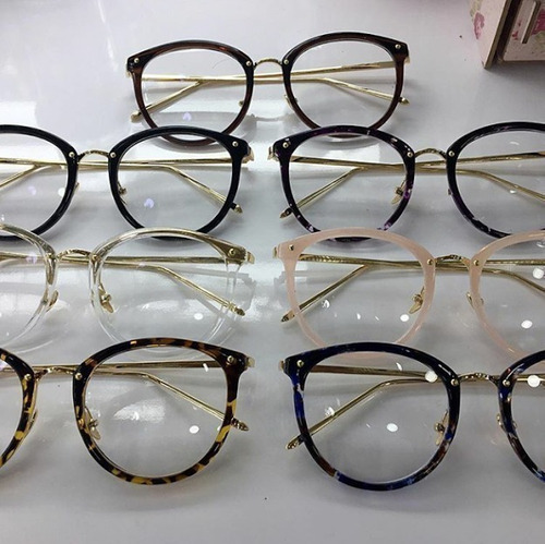 Óculos Feminino Armação Grau Geek Redondo Vintage Flora - R  95 en ... 73364c5b72