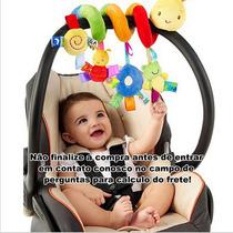 Móbile Chocalho Bebê Centopeia Espiral Carrinho Berço