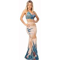 Busca Vestido Longo Viscolycra Sereia Com Os Melhores Preços