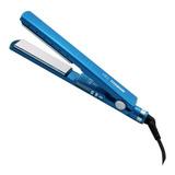 Prancha De Cabelo Mq Professional Hair Styling Titanium 7900 Azul Com Placas De Titânio 110v/220v