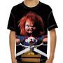 Camiseta Filme Clássico Chucky Boneco Assassino Infantil