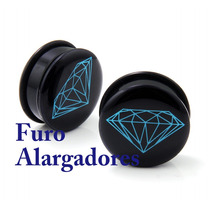 Alargador Rosca Interna Diamante Azul 14mm - Unidade