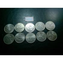 Lote 10 Moedas Eua Quarter Dollar, Comemorativas 50 States