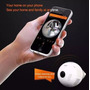Lâmpada Câmera Led Wifi Ip Hd Panorâmica Única 360º Espião