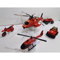 05 Veiculo Bombeiro Helicoptero Jeep Quadriciclo Motocicleta