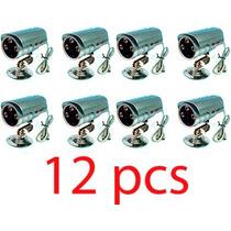 Kit 12 Camera Infravermelho Visão Noturna 36led 1200tvl 30mt