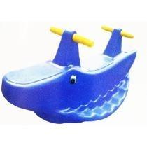 Gangorra Jacaré Balanço Infantil - Azul 1ª Linha
