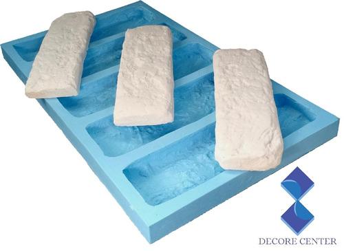 Molde Forma 100% Silicone Gesso 3d Tijolos 20x5 Cm