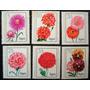 5995 Alemanha Oriental Ddr Série Completa De Flores De Jardi