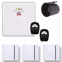 Kit Alarme Residencial Jfl Central Asd 200 Completo Sem Fio