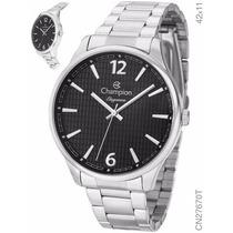 Relógio Champion Elegance Prata Analógico Unissex Cn27670t